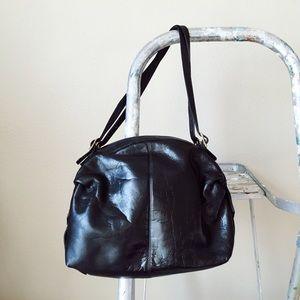 Vintage Leather Bag Black Purse